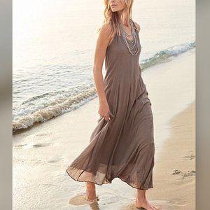 Garnet Hill Cotton Gauze Long Cover Up Dress